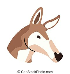 wild fawn animal head nature icon vector illustration design