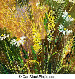 Wild flowers - Background drawing of wild flowers