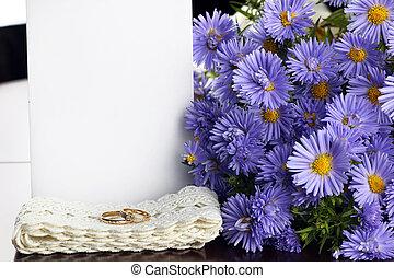 wild flowers bouquet rings
