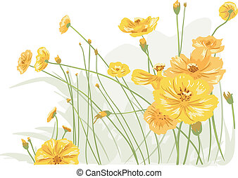 Wild Flowers - Illustration Featuring Colorful Wild Flowers