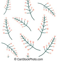 Wild flowers vector seamless pattern