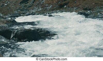 wild, fluß, bach, in, norwegen, -, eingestuft, version