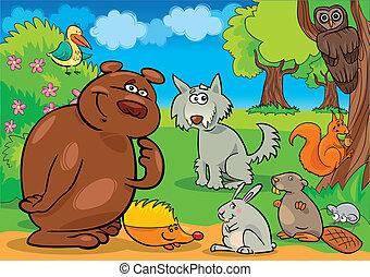 wild forest animals