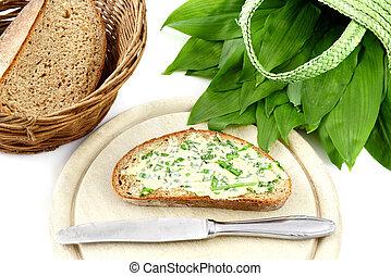 wild garlic (ramson) in springtime.