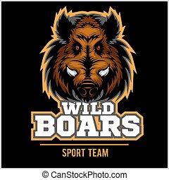 Wild Hog head Mascot