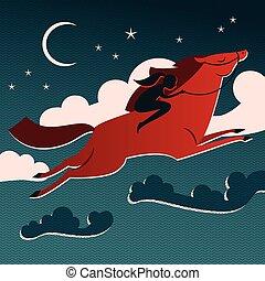 Wild Horse Composition - Wild horse composition red horse...