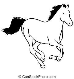 Wild horse - Illustration of a wild horse