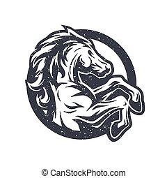 Wild horse, logo, symbol. - Wild horse logo symbol Vector...
