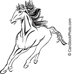 Wild horse racing stock image stock - Wild horse racing...