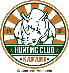 Wild hunting sport vector sign