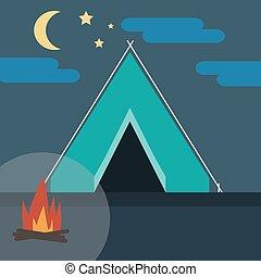wild, kamperen, natuur