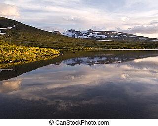 Wild landscape of Lake