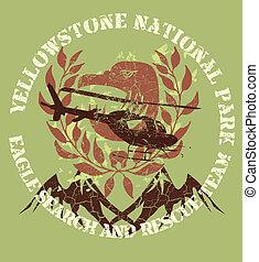 wild life wreath and eagle vector art
