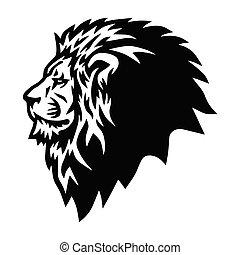 Wild Lion Head Logo Mascot Vector Icon Design