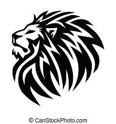 Wild Lion Head Logo Vector Icon Mascot Design