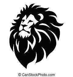 Wild Lion Head Logo Vector Mascot Design