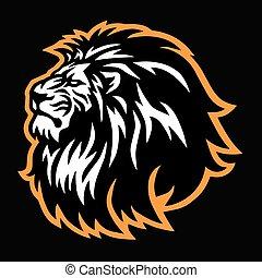 Wild Lion Head Logo Vector Mascot Sports Icon Design Illustration