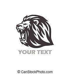 Wild Lion Head Logo