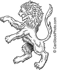 Wild Lion illustration