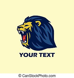 Wild Lion Roaring Logo