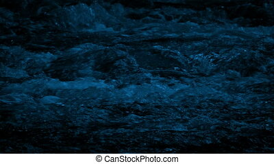 Wild Mountain River At Night