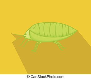 Wild Plant Lice Insect Vector Illustration