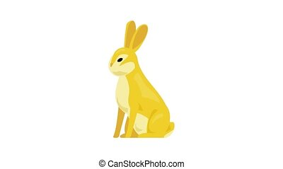 Wild rabbit icon animation best on white background for any design