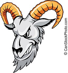 Wild ram - Wildram in cartoon styleisolatd on white...