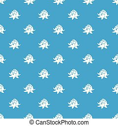 Wild raspberry pattern vector seamless blue