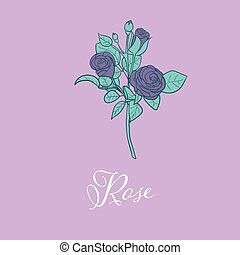 Wild Rose flower design isolated object