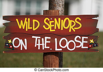 Wild Seniors on the Loose - Colorful wild seniors on the...