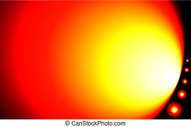 Wild Solar Abstract Background - Hot-looking background with...