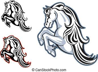 Wild stallion mascot
