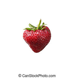 Wild strawberry berry on a white background.