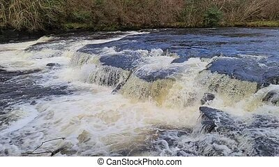 Wild stream flowing through County Donegal - Ireland.