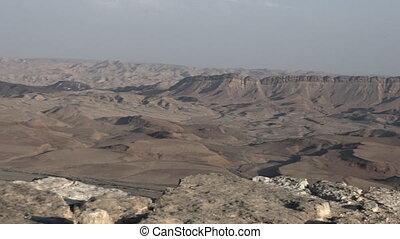 wild, verlaat landschap, van, makhtesh, ramon, israël