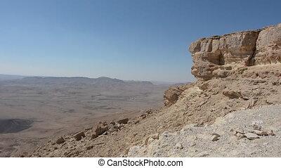 wild, verlaat landschap, van, ramon, krater, negev woestijn, israël
