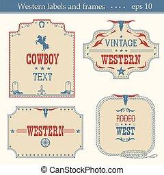 Wild wes tAmerican labels. - Western American labels...