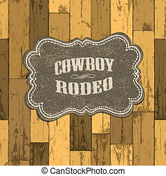 Wild west background on seamless wooden texture. Vector...