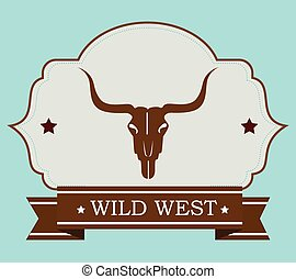 Wild west culture graphic design, vector illustration eps10