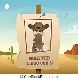 Wild west frame. American cowboy western symbols lasso guns horse saloon vector poster template