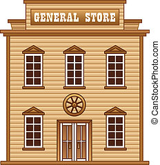 Wild West general store building - Store building from Wild...