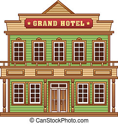 Hotel from Wild West for game level