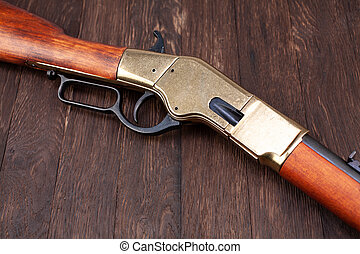Wild west gun - lever-action repeating rifle