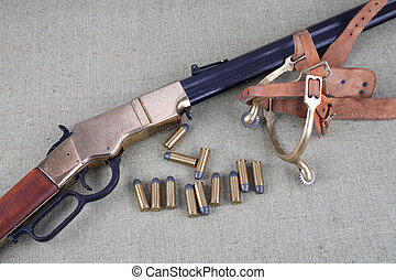 Wild west rifle and ammunition
