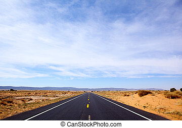 Wild West Road - Road through Southwest, Arizona, USA