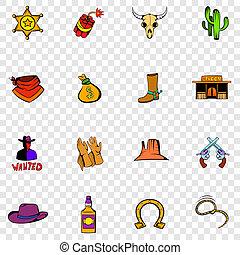 Wild West set icons