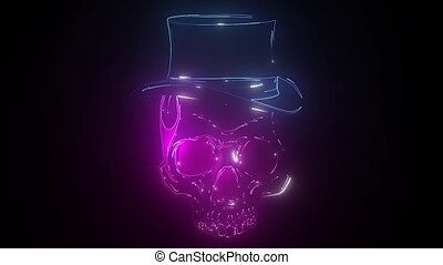 Wild west skull with hat. Smiling rover logo template.
