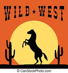 Wild West Typography Graphics design