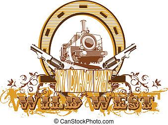 Wild West Vignette II - Vectorial image on a theme wild west...